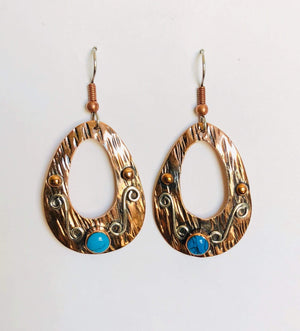 Copper Earrings 4075