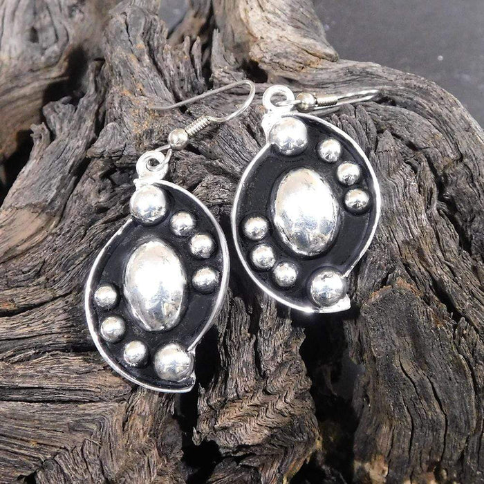 Silver Earrings - HPSilver, Silver Plated Dangle Earrings ER.RAU.5005