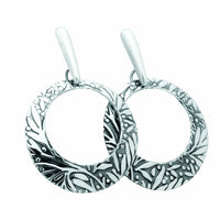 Earrings Sterling Silver Earrings - HPSilver, Sterling Silver Dangle Earrings ER.MAN.0065