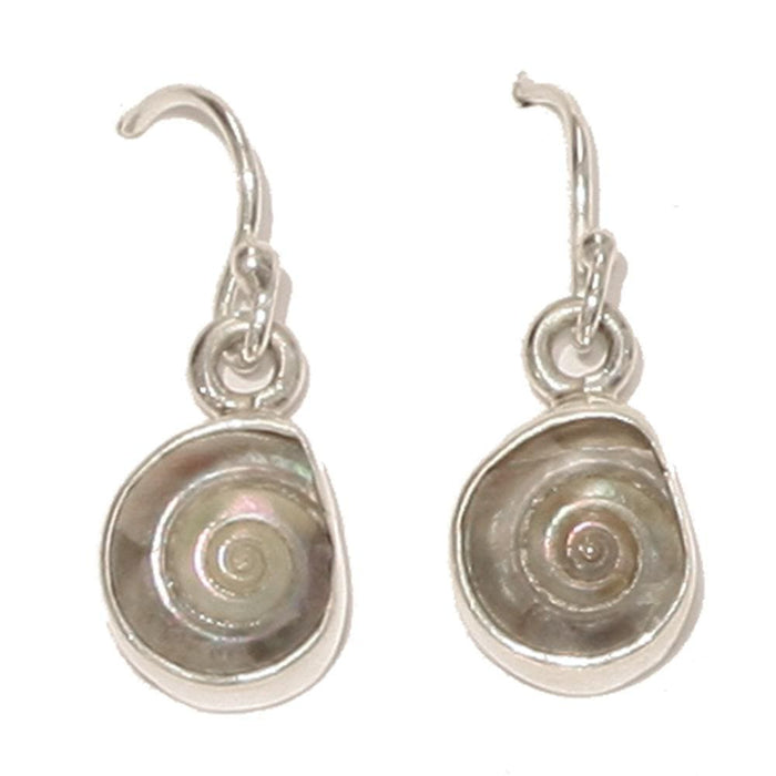 Sterling Silver Earrings - HPSilver, Sterling Silver with Pearlized Shell Dangle Earrings ER.CON.1086