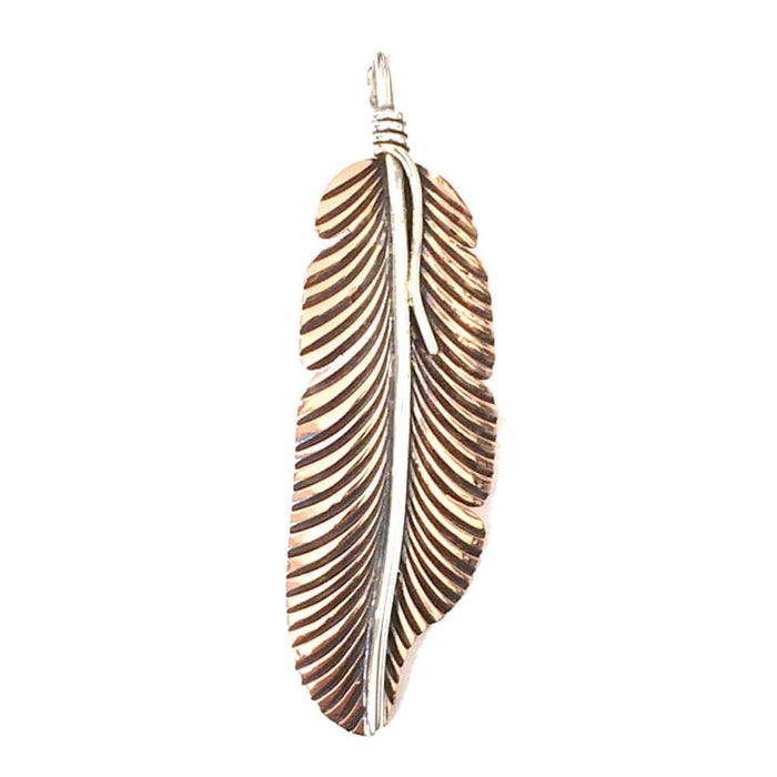 Copper Pendant - HPSilver, Copper and Sterling Silver Liberty Feather Pendant PN.VIC.4024