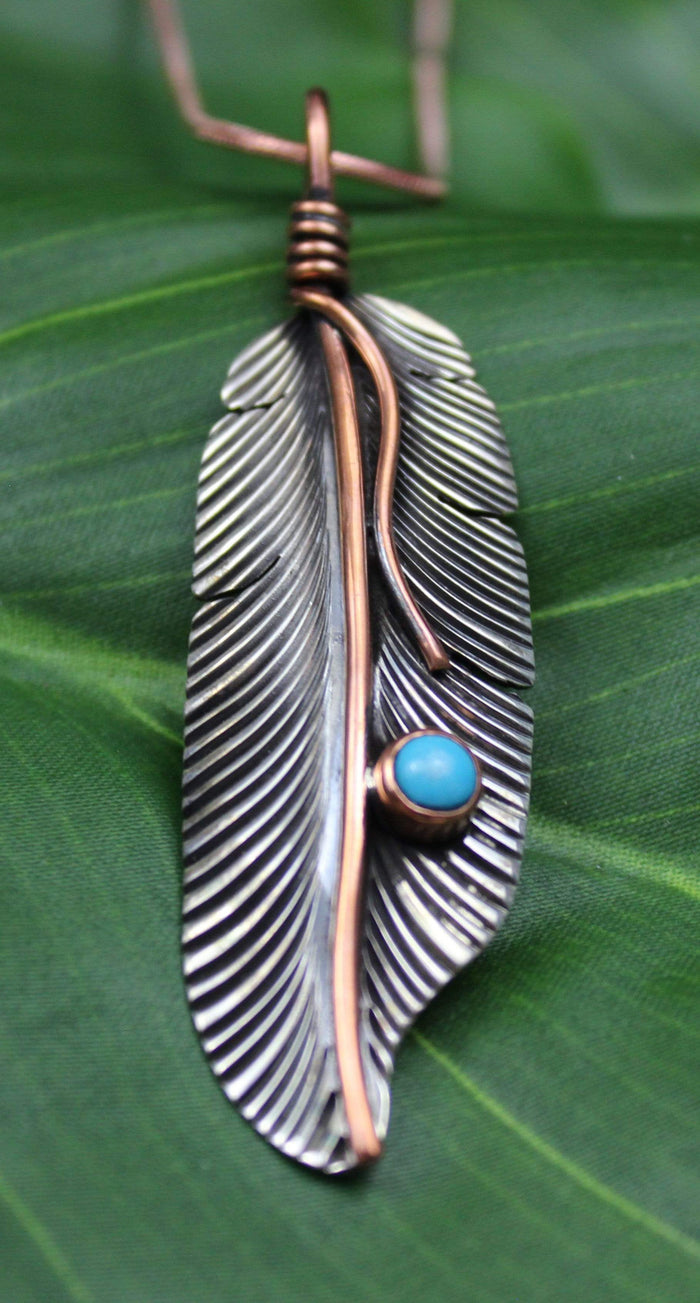 Sterling Silver Turquoise Pendant 2056