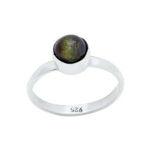 Sterling Silver Ring - HPSilver, Sterling Silver with Bronze Pearl Ring RG.KIK.1003