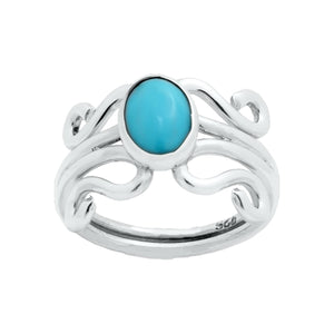 Sterling Silver Ring - HPSilver, Sterling Silver with Turquoise, Wire Ring RG.FEL.1104