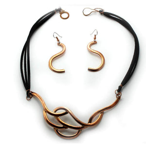 Sets Copper Set - HPSilver, Copper Necklace and Earring Set ST.ANG.4001