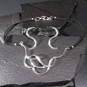 Silver Set - HPSilver, Silver Plated Necklace and Earrings Set ST.ANG.5001