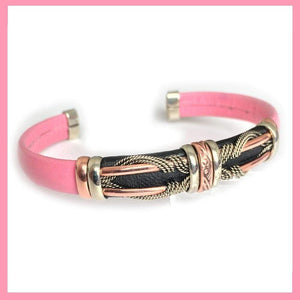 Special Edition Pink Butterfly Leather Bracelet - Show your love and support.