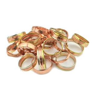 Discount Packs - Copper and Brass Rings, Wholesale Pack of 25 RG.HEC.4000