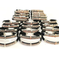 wholesale packs Discount Packs - HPSilver, Unique Leather Bracelets Bundle Black Mix Wholesale Pack of 25  BR.ULB.1000