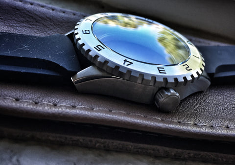 Dark Seal Dive Watch With Swiss Movement, Steel Bezel