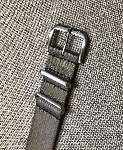 Nylon Dive Watch Strap - Tan / Khaki 20mm Classic Waterproof Band - American Microbrand