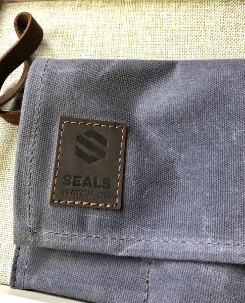 Watch Travel Case - An Ideal Travel Watch Roll Made of Waxed Canvas and Suede
