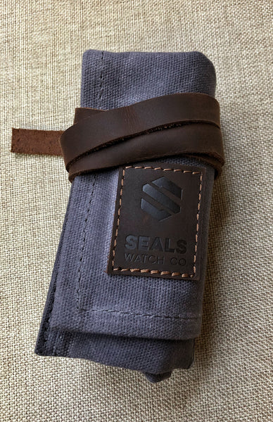 Watch Travel Case - An Ideal Travel Watch Roll Made of Waxed Canvas and Suede - American Microbrand