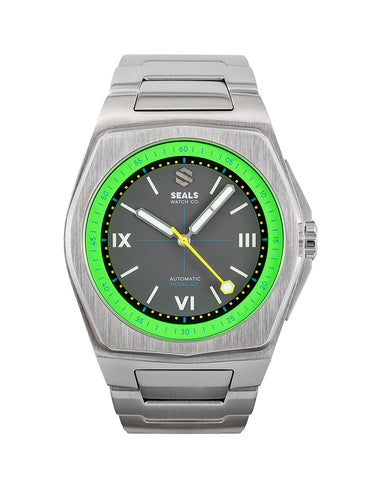 Model A.5 Automatic Wrist Watch - Acid Green - American Microbrand