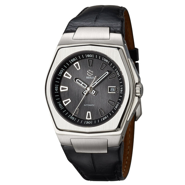 Stainless Steel with Black Dial - Automatic Wrist Watch - American Microbrand