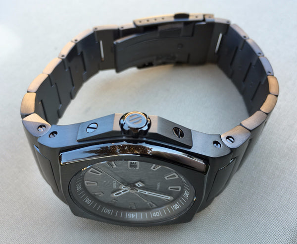 Slate PVD With Brushed Slate Dial on Steel Bracelet Automatic Watch - American Microbrand