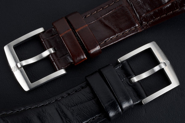 New italian leather strap, buckle has been replaced by custom design