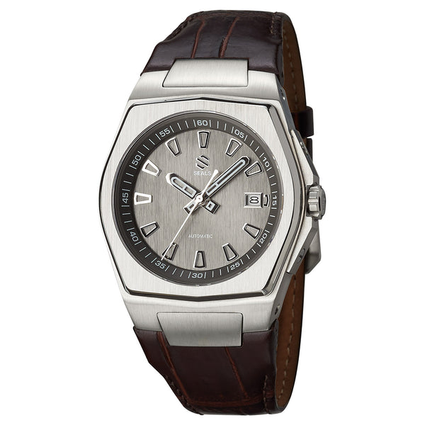 Stainless Steel with Slate Dial - Automatic Wrist Watch - American Microbrand