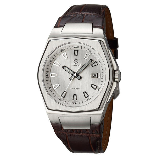Stainless Steel with White/Silver Dial - Automatic Wrist Watch