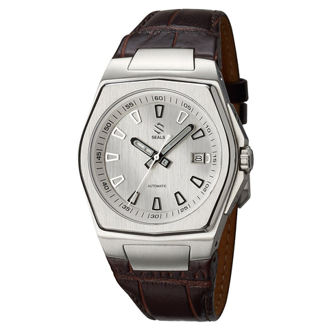 Stainless Steel with White/Silver Dial - Automatic Wrist Watch - American Microbrand