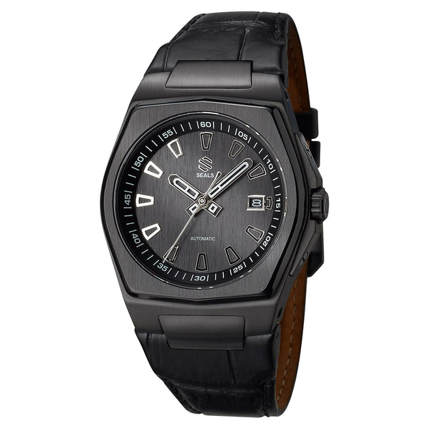 Black PVD with Black Dial - Automatic Wrist Watch - American Microbrand