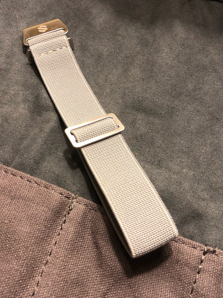 Parachute Style Elastic Watch Straps - Solid Cool Grey - American Microbrand