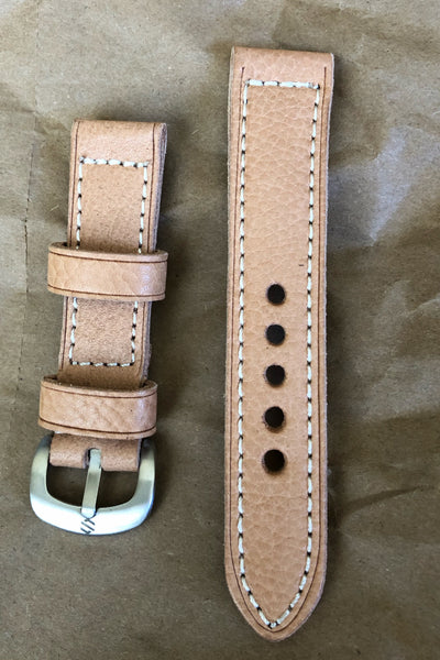 Leather Watch Strap For Field Watch, 22mm | Custom Made Watch Strap - American Microbrand
