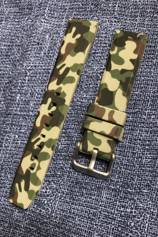 Camo Watch Strap, Rubber Watch Band In 20mm - American Microbrand