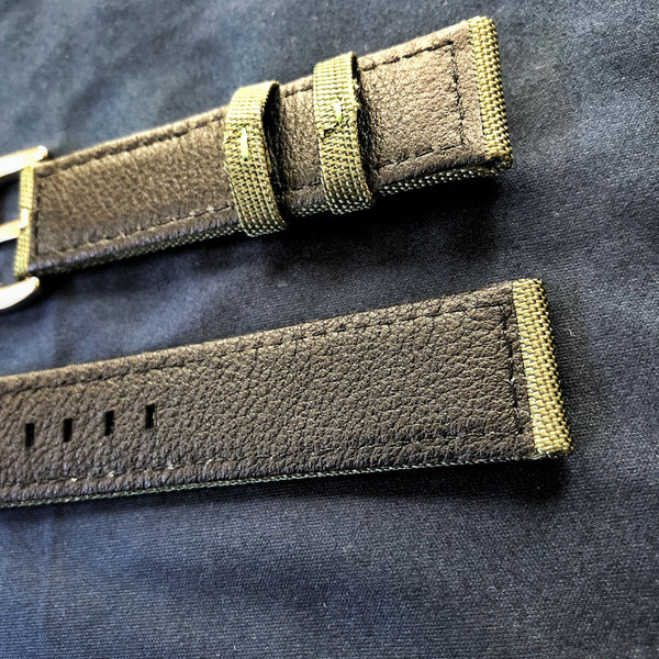 Army Green Canvas Watch Band, 22mm - American Microbrand