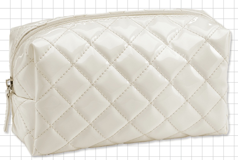 Small White Quilted Bag