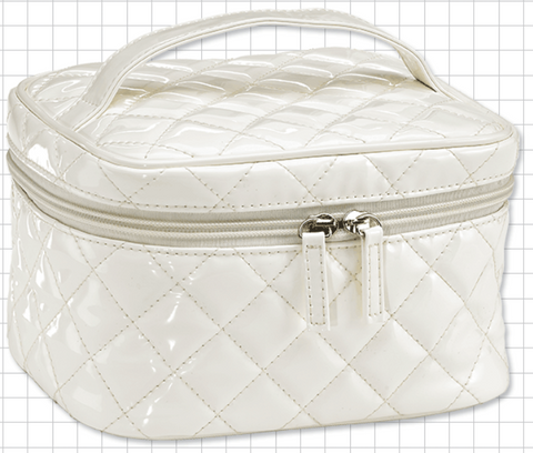 White Medium Cosmetic Train Bag - M.U.A.H. Organics