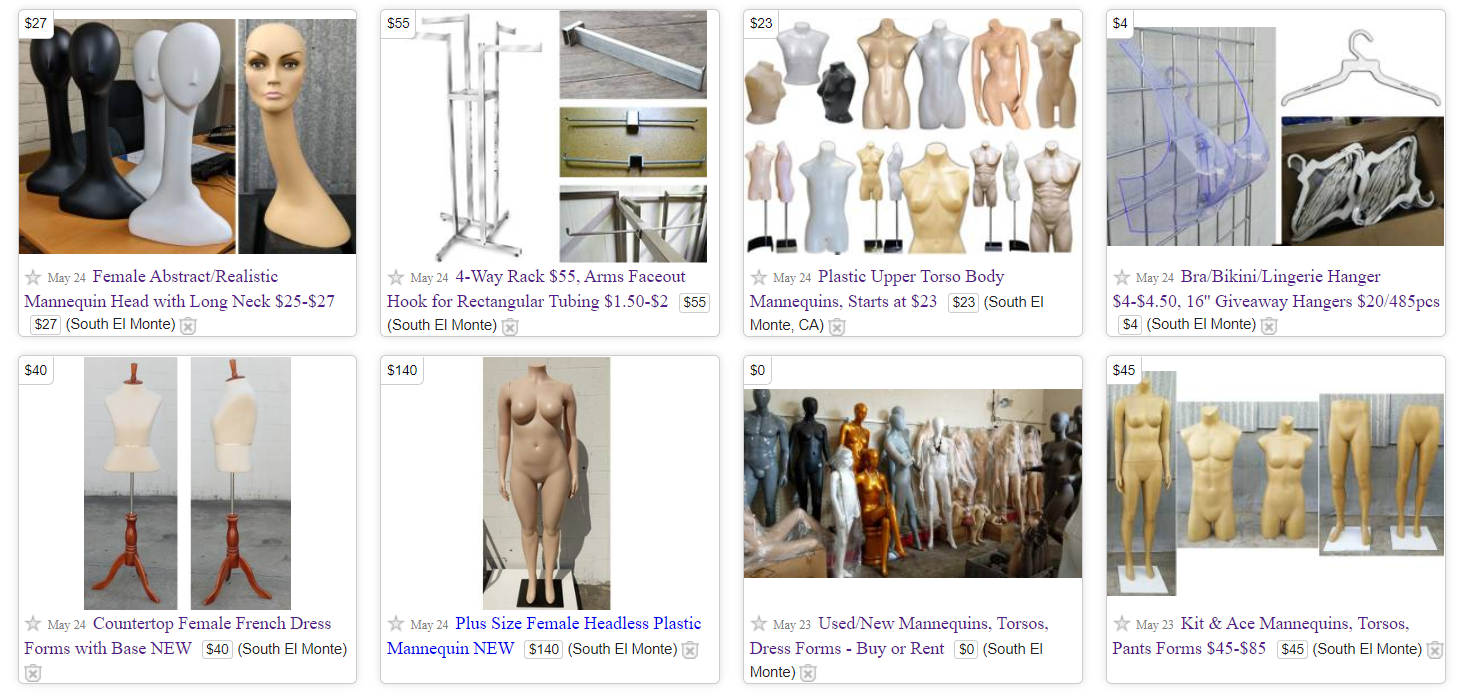DisplayImporter Used and Preowned Mannequins