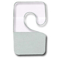 AF-007 Clear Plastic Adhesive Hooks - Pack of 200 - DisplayImporter