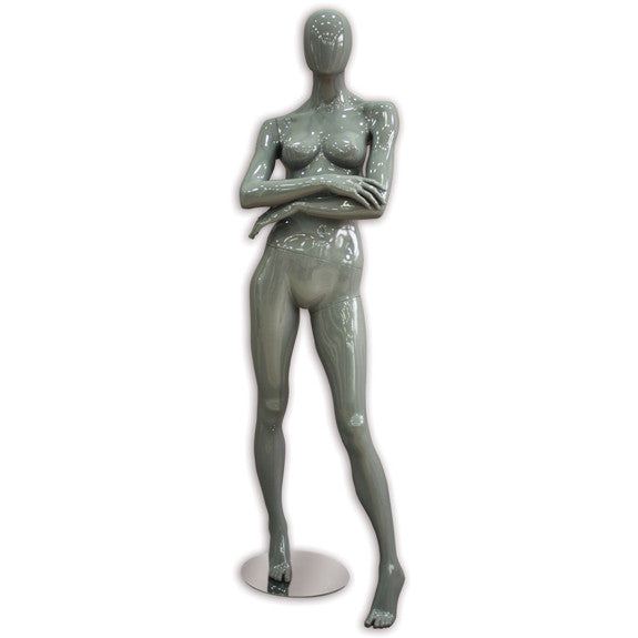 AF-015 Glossy Female Abstract Mannequin - Roxanne - DisplayImporter
