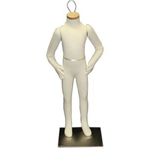 "AF-080 Headless 4 Year Old Unisex Flexible Kid Mannequin 33""  - DisplayImporter.com"