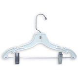 "AF-177 12"" Heavy Weight Suit Hangers - Pack of 100 - DisplayImporter"