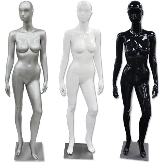AF-187 Glossy Abstract Female Egghead Mannequin