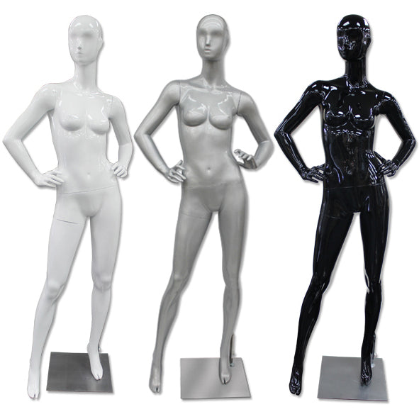 AF-188 Glossy Abstract Female Egghead Mannequin - DisplayImporter