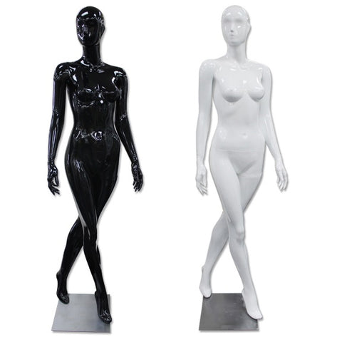 AF-190 Glossy Abstract Female Egghead Mannequin with Legs Crossed
