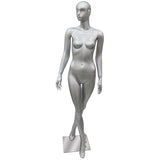 AF-190 Glossy Abstract Female Egghead Mannequin with Legs Crossed - DisplayImporter