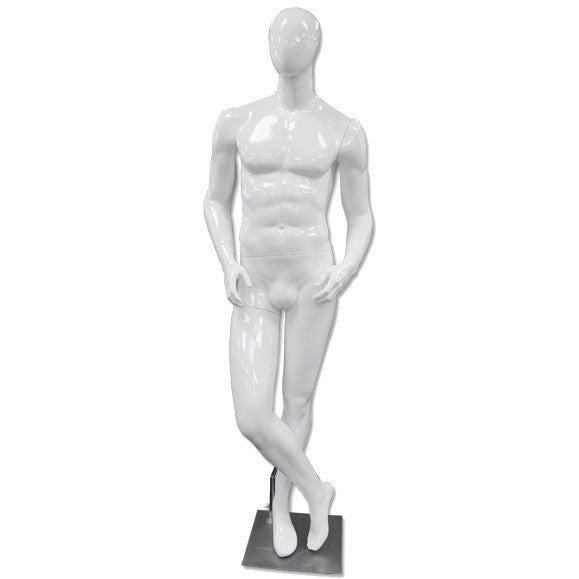 AF-193 Glossy Abstract Male Egghead Mannequin - DisplayImporter