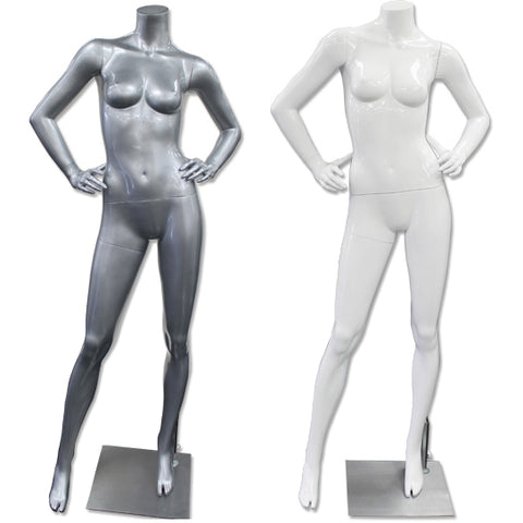 AF-197 Glossy/Matte Female Headless Mannequin - DisplayImporter