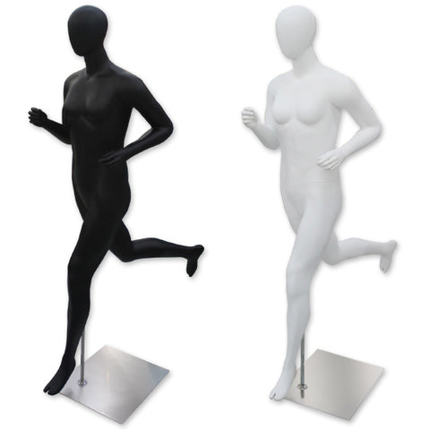 AF-236 Female Egghead Running Jogging Sports Mannequin