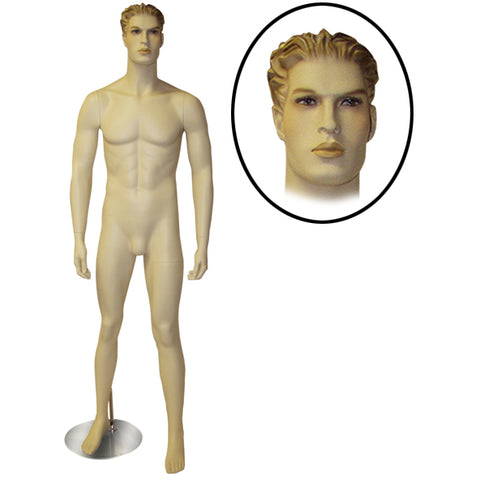 AF-MM3 Male Mannequin with Molded Hair