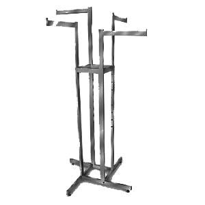 AF-RK85MAB 4 Way Adjustable Rack with 4 Straight Arms - Matte Black - DisplayImporter