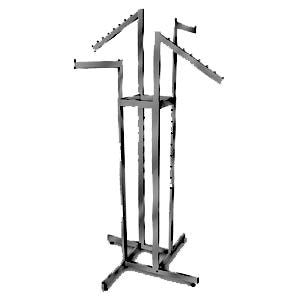 AF-RK86MAB 4 Way Adjustable Rack with 2 Straight, 2 Slant Arms - Matte Black - DisplayImporter