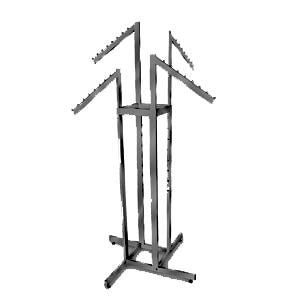 AF-RK87MAB 4 Way Adjustable Rack with 4 Slant Arms - Matte Black - DisplayImporter