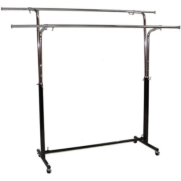 AFD-010 Double Round Tubing Garment Rack - DisplayImporter