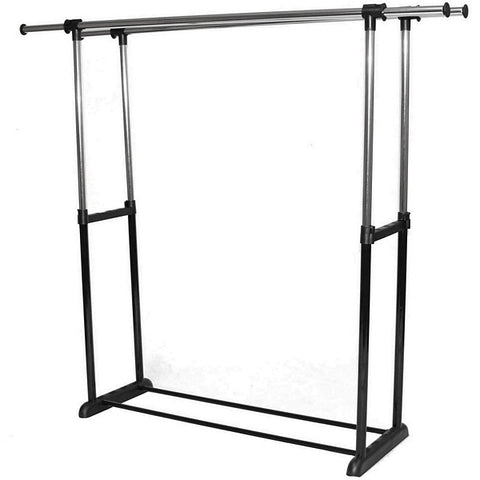 AFD-013 Plastic Leg Base Double Round Tubing Garment Rack - DisplayImporter