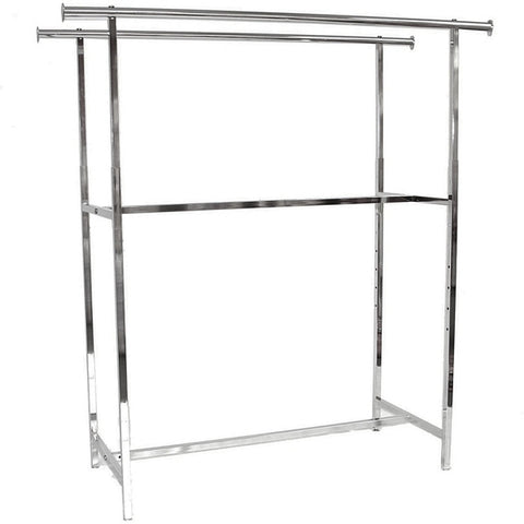AFD-014 Double Hangrail Clothing Display Rack - DisplayImporter